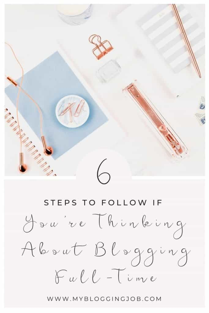 Thinking about blogging full time
